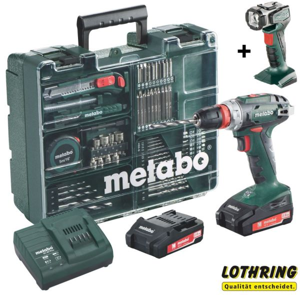 metabo mobile werkstatt bs 18 quick set akku lampe ula 602217880 ebay. Black Bedroom Furniture Sets. Home Design Ideas
