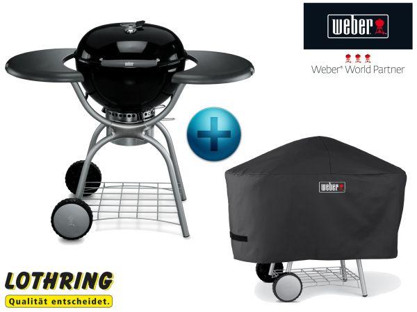 weber holzkohle grill one touch deluxe 57 cm schwarz inkl. Black Bedroom Furniture Sets. Home Design Ideas